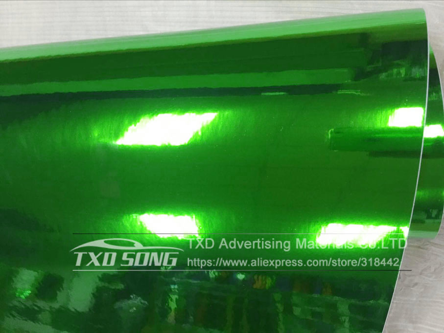 Image 2 - 50CM*100/200/300/400/500CM New Size High stretchable green silver Chrome Mirror flexible Vinyl Wrap Sheet Roll Film Car Vinyl-in Car Stickers from Automobiles & Motorcycles