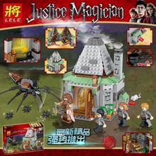 Harri Potter 461pcs Hagrid's Hut Compatible Legoing 4738 Model Building Kits Blocks Bricks Toys For Children цены онлайн