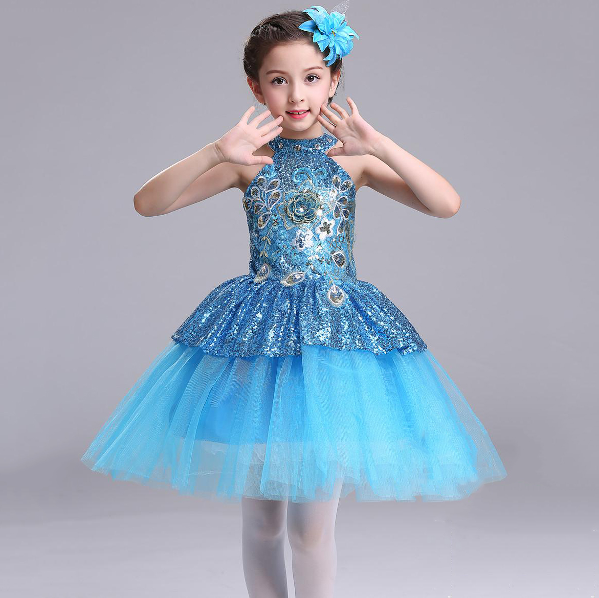 Flower Girl Dress Children Kids Beautiful Wedding Party Dresses ...
