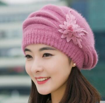 2018 fransTui, The autumn winter Ladies knitting wool cap hat thickened in autumn and winter fur hat gift children knitting wool hat cute keep warm rabbit beanie cap autumn and winter hat with earflaps whcn