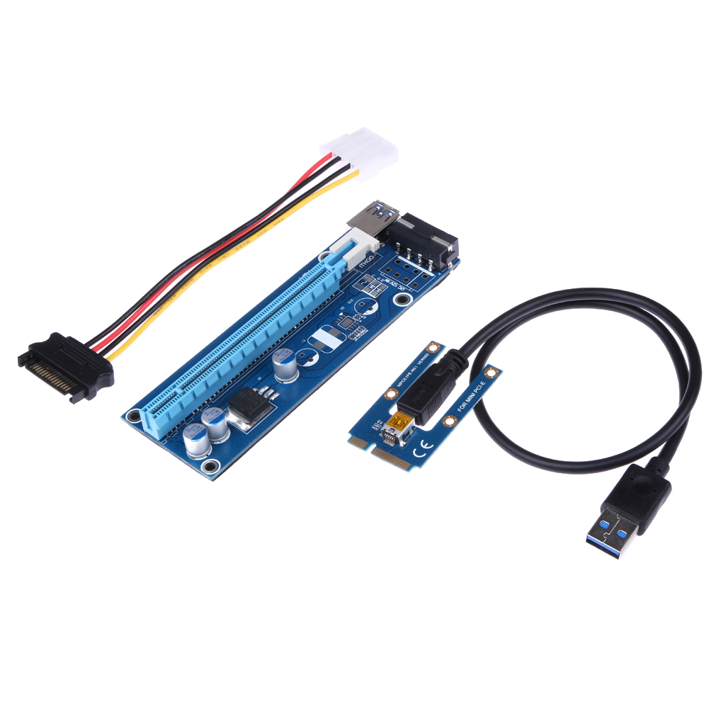 Fifth PCIe PCI E PCI Express Riser Card Aadapter 1x to 16x