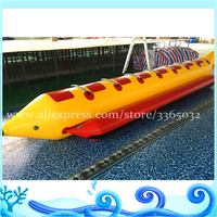8 Seats water fun game inflatable floating toys pvc yellow inflatable banana boat for sale