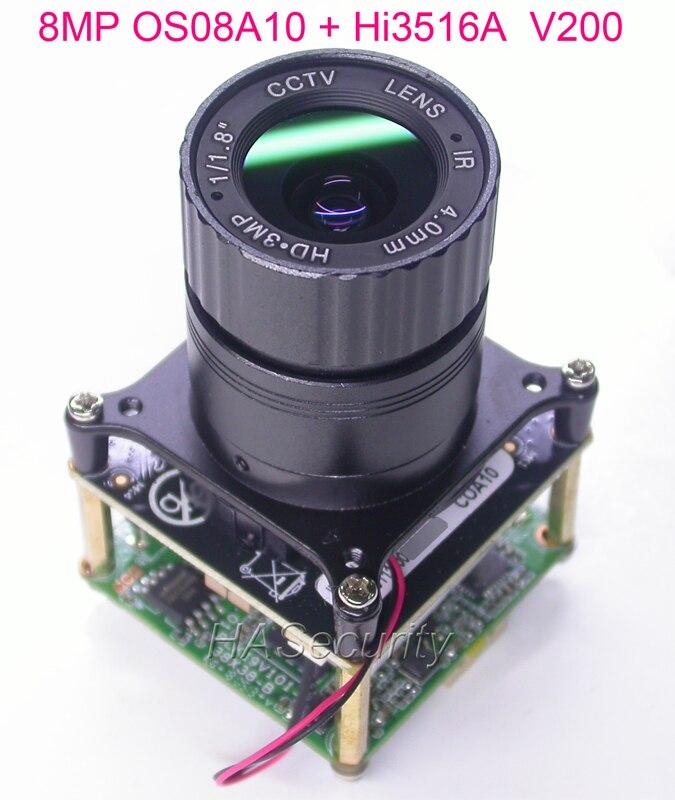 8 0MP 4K 2K H 265 IPC 1 1 8 OmniVision OS08A10 CMOS sensor Hi3516A V200