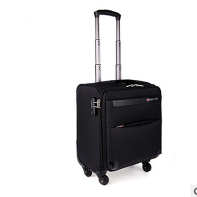 Universal wheels trolley luggage 16 oxford fabric luggage commercial box men and women bags general travel bag soft box