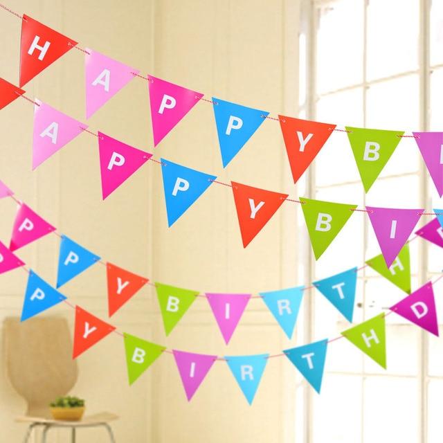 1pc DIY Rainbow Color 3M Happy Birthday Letter Strip