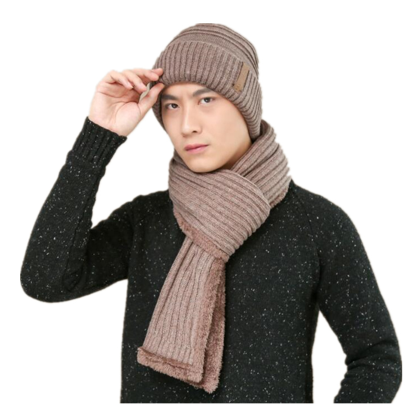 Neck warmer winter hat knit cap scarf cap Winter Hats For men knitted hat men Beanie Knit Hat women Skullies Beanies +scarf donnalla cute hat beanie hooded neck shawls baby kids winter warmer knit woolen crochet bowknot cape scarf hats