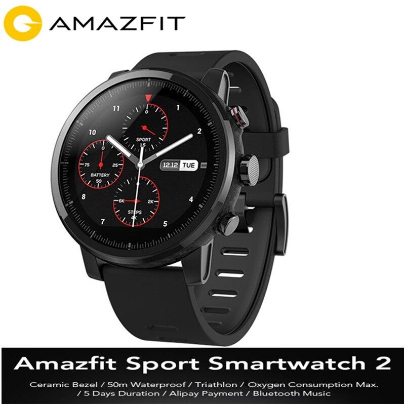 D'origine Huami Amazfit Smartwatch 2 de Course 4 gb ROM Xiaomi Puce Alipay Paiement 50 m Étanche Bluetooth Anti-Perte montre de sport
