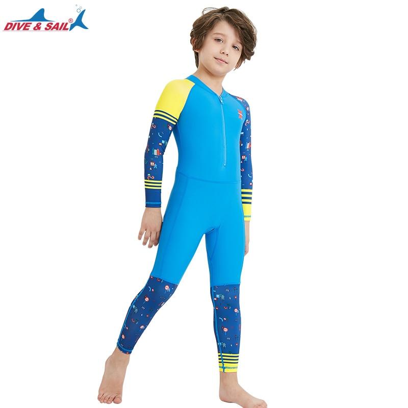 a1e6b4b18307c Lycra Dive Skin Wetsuit for Kids Boys Girls One Piece Swimsuit Full Body Sun  UV Protection UPF 50+ Swimwear Bath Suit Children-in Rash Guard from Sports  ...