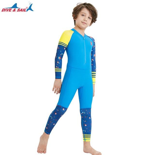 53d19ff368db8 Lycra Dive Skin Wetsuit for Kids Boys Girls One Piece Swimsuit Full Body  Sun UV Protection UPF 50+ Swimwear Bath Suit Children