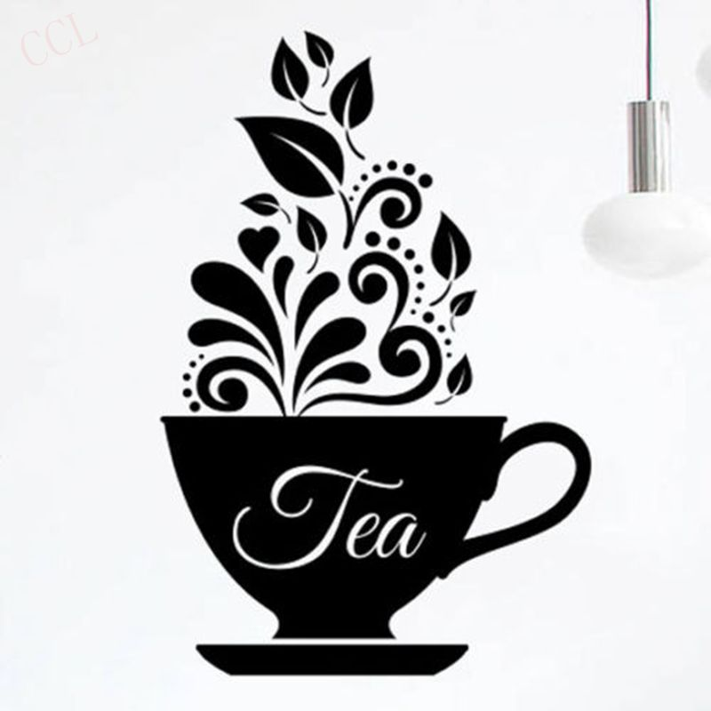 Love tea cup kitchen wal sticker vinyl decal art for Tea and coffee wall art