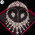 Luxurious Bridal jewelry sets for Women wedding african beads jewelry set necklace and earrings crown