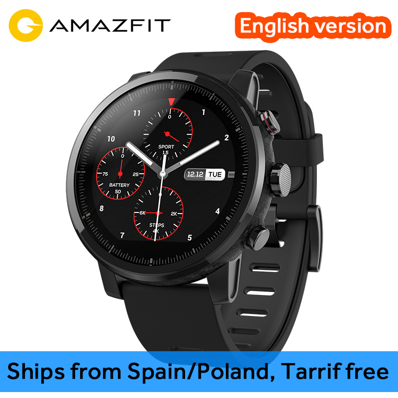 Huami Amazfit 2 Amazfit Stratos Pace 2 montre intelligente hommes avec GPS Xiaomi montres PPG moniteur de fréquence cardiaque 5ATM étanche