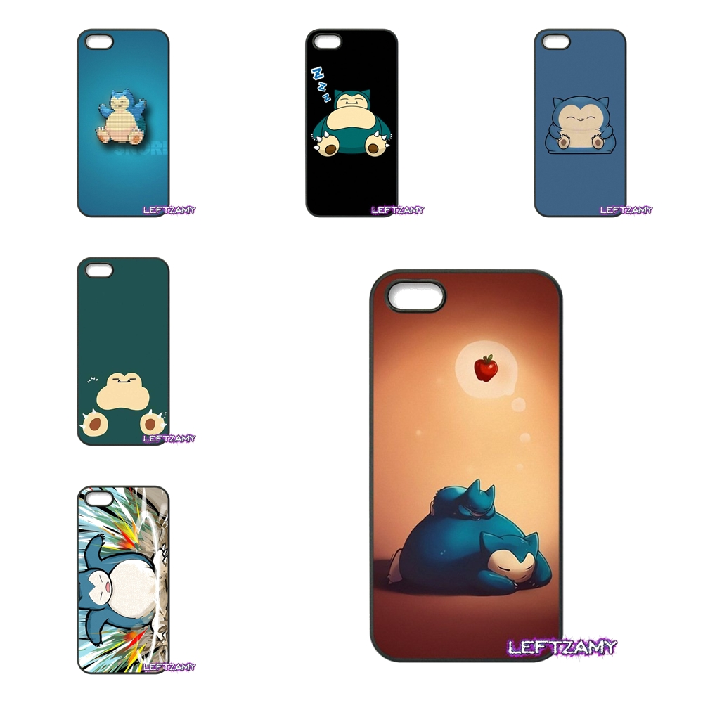 Pokemon Snorlax Sleep On Hard Phone Case Cover For HTC One M7 M8 M9 A9 Desire 626 816 820 830 Google Pixel XL One Plus X 2 3