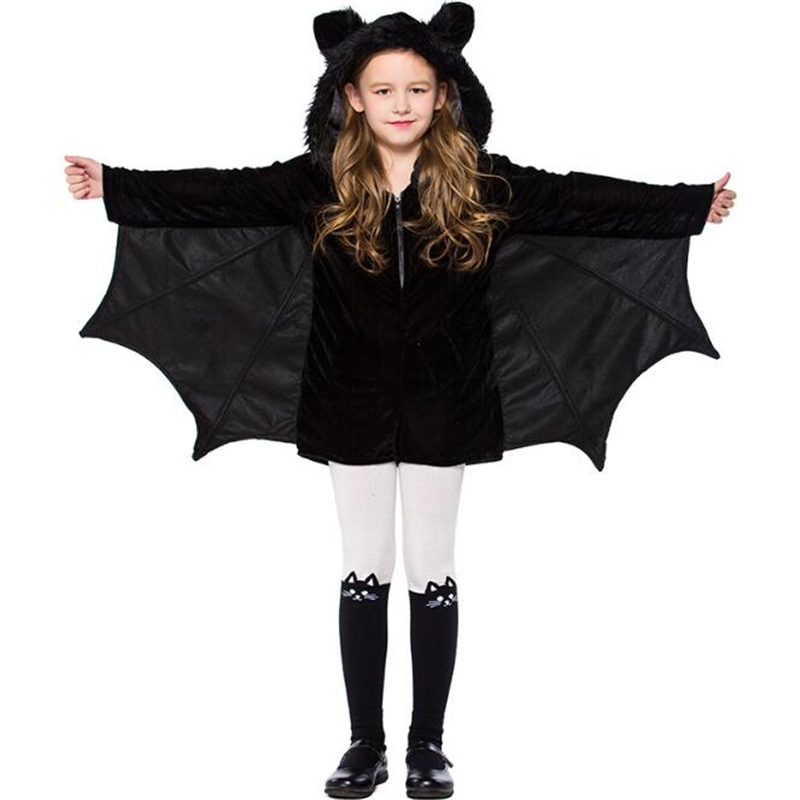 Cute Girl Bat Costume Halloween Kids Batgirl Cosplay Clothing