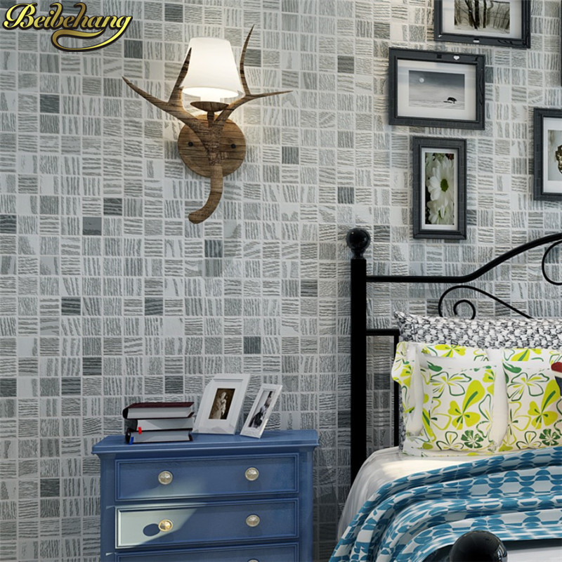 beibehang 3d mural stereoscopic video wallpaper green gray living room wall mosaic non-woven wall paper embossed Home Decoration ceiling non woven wallpapr home decoration wallpapers for living room 3d mural wallpaper ceiling customize size