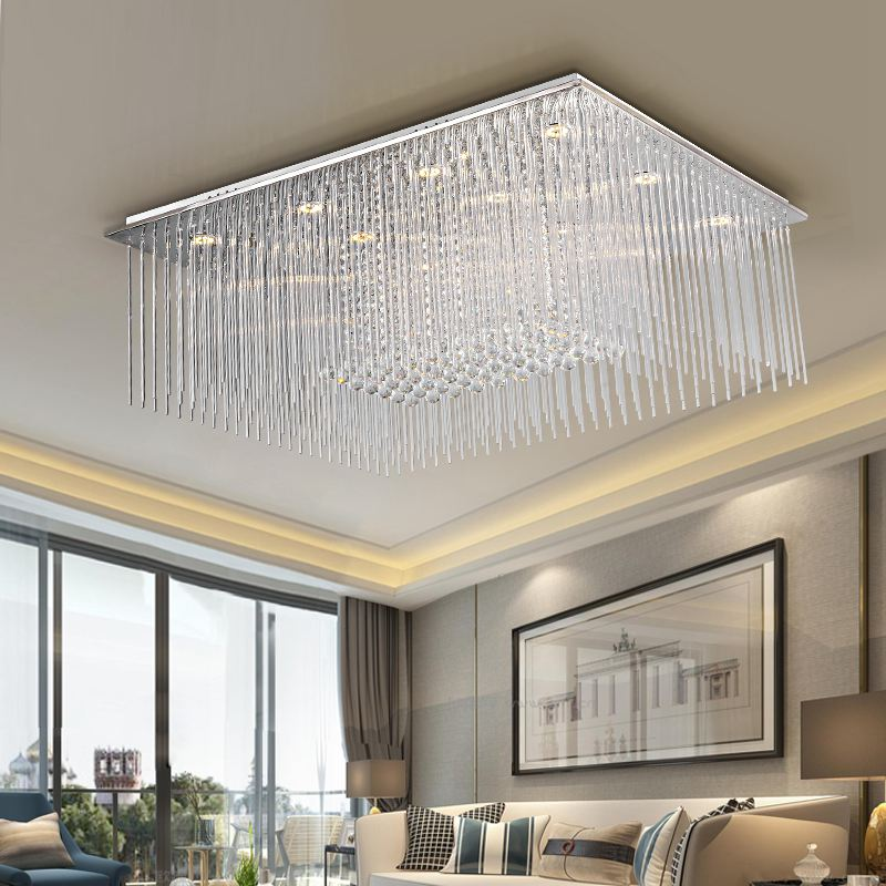 Luxury Crystal Sticks Hanging Living Room Ceiling Light Modern Drawing Hotel Lamp Restaurant Gl Lights In From