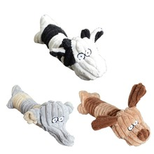 PetChew Toy Cute Dogs Shape Pet Dog Cat Biting Chew Bite Funny Plush Sound Squeak Pets Supplies Dog Toy New
