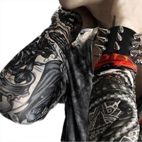 Hot  Cool Men's Temporary Fake Slip On Tattoo Arm Warmers Summer Sleeves Kit 6 Pcs  Retail/Wholesale  5BTQ 7GDN