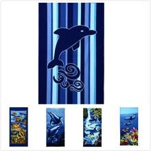New Arrival Animal Beach fish Microfiber Bath Towels for Adults Large towel Serviette de Bain 70*140cm strandlaken