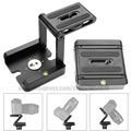 New Aluminum Portable Folding Camera Tripod Head Slider Z Desktop Stand Holder Flex Pan Tilt Ball Head for Canon Nikon Sony DSLR