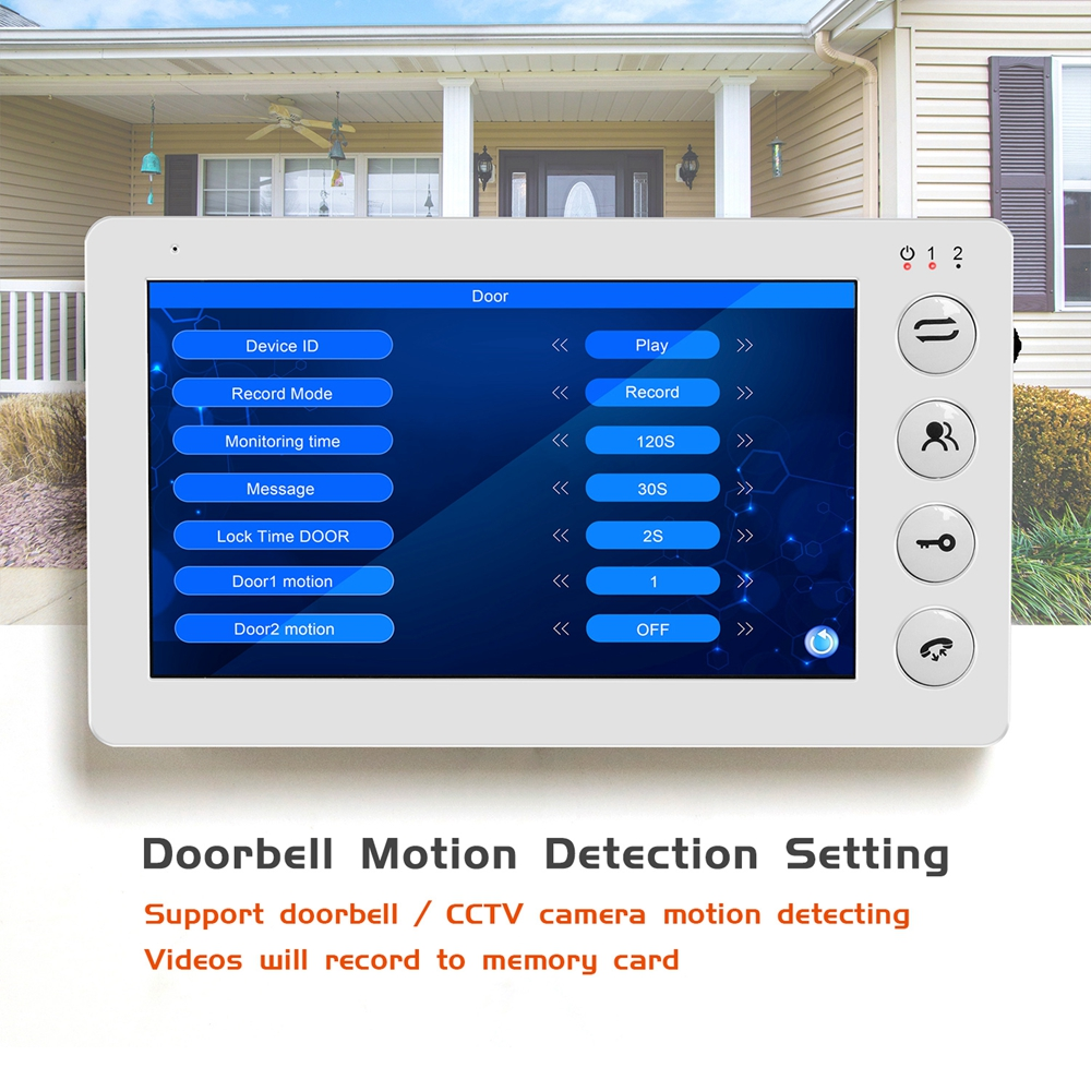 Image 4 - 960P HD Video Door phone Intercom for Home intercom system Support Motion Detect Record 32GB SD Card  Wired 7inch video Doorbell-in Video Intercom from Security & Protection
