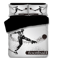 New Football Basketball Goalkeeper Boxing Volleyball Sports Quilt Cover Set 3/4pcs Twin/Full/Queen Size Bedding Free Shipping