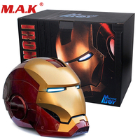 1/1 scale 1:1 wearable can open close Iron man MK7 helmet roan toys cosplay real mask collectable mechinical iron painted mask