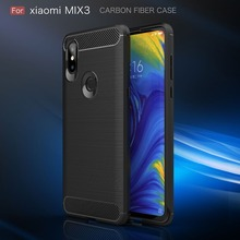 цена For Xiaomi Mi Mix 3 Case Carbon Fiber Shockproof Silicone Rugged Armor Back Case for Xiaomi Mix 3 Mix3 Cover Ultra Thin Funda