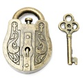Vintage Metal Cast God Lock Key Puzzle Toy IQ&EQ Mind Brain Teaser Souptoys Gift Intellectual Educational For Children Adult