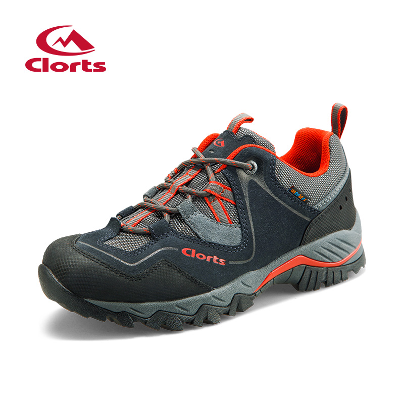 цена на 2017 Clorts Mens Hiking Shoes Waterproof Outdoor Climbing Shoes Breathable Sports Shoes Suede Leather Free Shipping HKL-826G