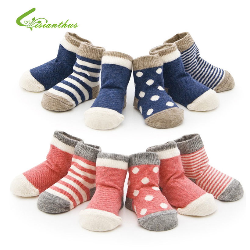 font b Baby b font Cotton Socks Toddlers Boys Girls Spring Autumn Socks Stripes Dots