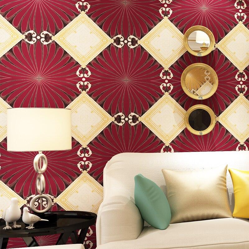 beibehang wallpaper Modern simple diamond - shaped non-woven living room wallpaper exotic KTV box hotel clothing store wallpaper the best exotic marigold hotel