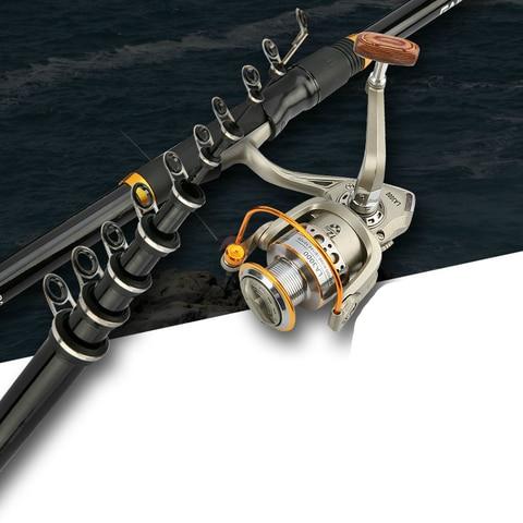 carbono secoes longas vara de pesca xh