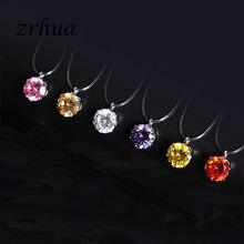 Женское прозрачное ожерелье zrhua из лески серебряного цвета