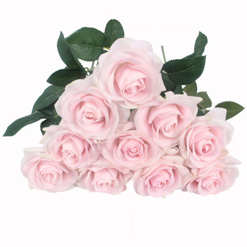 JAROWN Artificial Real Touch Hand Feel Rose Flowers For Valentine`s Day Preparation Wedding Decoration Home Decor (29)