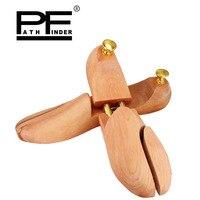 Pathfinder Women men Shoe Tree Shaper Moisture proof Twin Tube High grade Solid Wood Spring Wood Adjustable Shoe free shipping