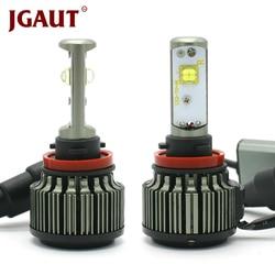 JGAUT H4 LED H1 H3 H7 H11 880 H13 9005 9006 9004 9012 Hi/Lo 80W 9000LM TURBO 6000K XHP50 Car Headlight Fog Light Kit Automobiles
