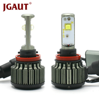 JGAUT H4 LED H1 H3 H7 H11 H13 880 9005 9006 9004 9012 גבוהים/נמוך 80 W 9000LM XHP50 טורבו 6000 K רכב פנס ערפל אור ערכת מכוניות