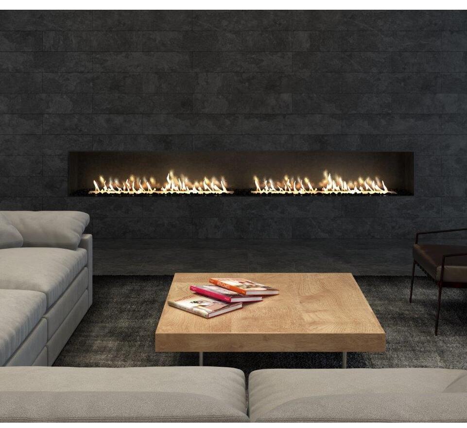 Inno-living Fire 36 Inch Smart Home Control Bio Ethanol Fire Burner Steel