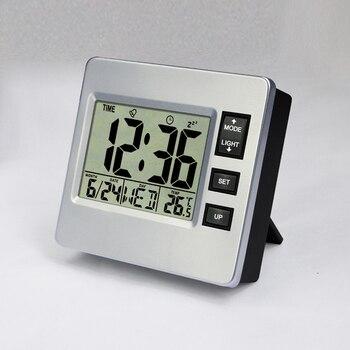 JIMEI H306 Square with backlight practical Lcd Digital Hygrometer Temperature Meter calendar countdown alarm Clock digital clock