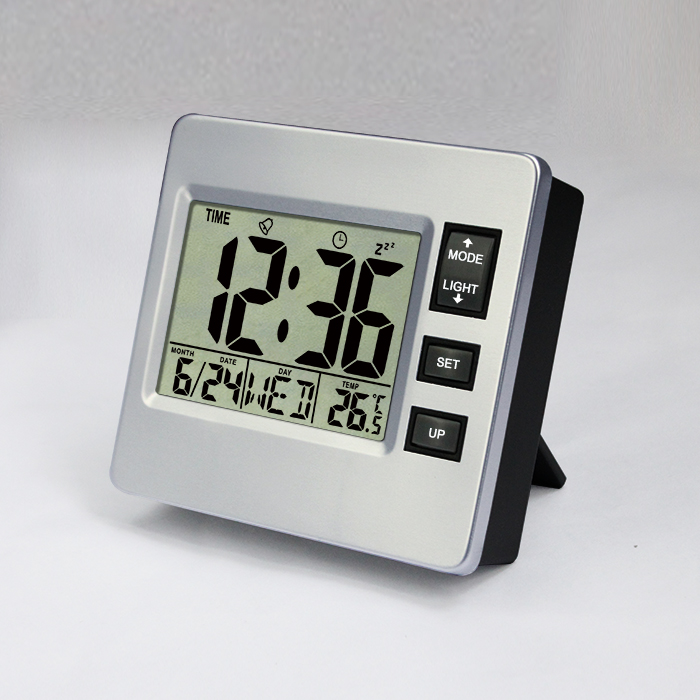 JIMEI H306 Square with backlight practical Lcd Digital Hygrometer Temperature Meter calendar countdown alarm Clock
