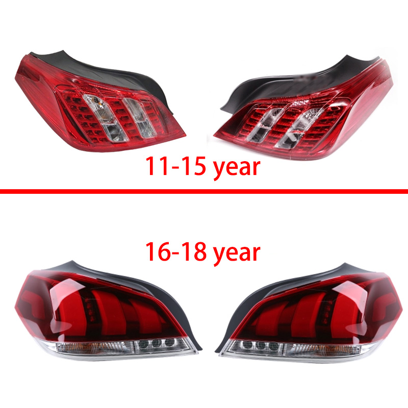 1pcs Car Light Lamp housing For peugeot 508 sedan Car Styling Rear Left Right Tail Light