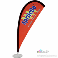 2.5ft tall Mini Tabletop/Desktop Bow Teardrop Flag Display Stand (with printing your design)