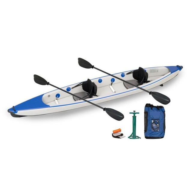 2015 New 420cm 2 Person Inflatable Drop Stitch Kayak Boat Racing