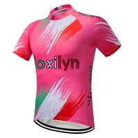 Pink Cycling Jersey Women Bike Shirt Summer Short Sleeve MTB Cycling Clothing Ropa Maillot Ciclismo Racing Bicycle Clothes