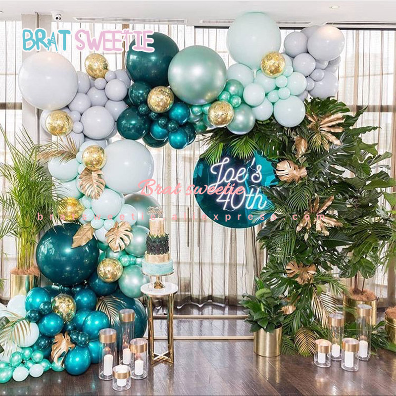 Jungle Party Decorations Monstera Leaves Balloons Wedding Decor Adult Kids Happy -5633
