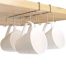 Кухонный стеллаж из нержавеющей стали для вывешивания на шкаф крючок вешалка полка вешалка для посуды полка для хранения кухонный Органайзер