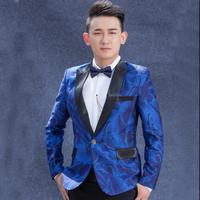 Blue green men suits designs masculino homme terno stage costumes for singers men blazer dance clothes jacket star style punk