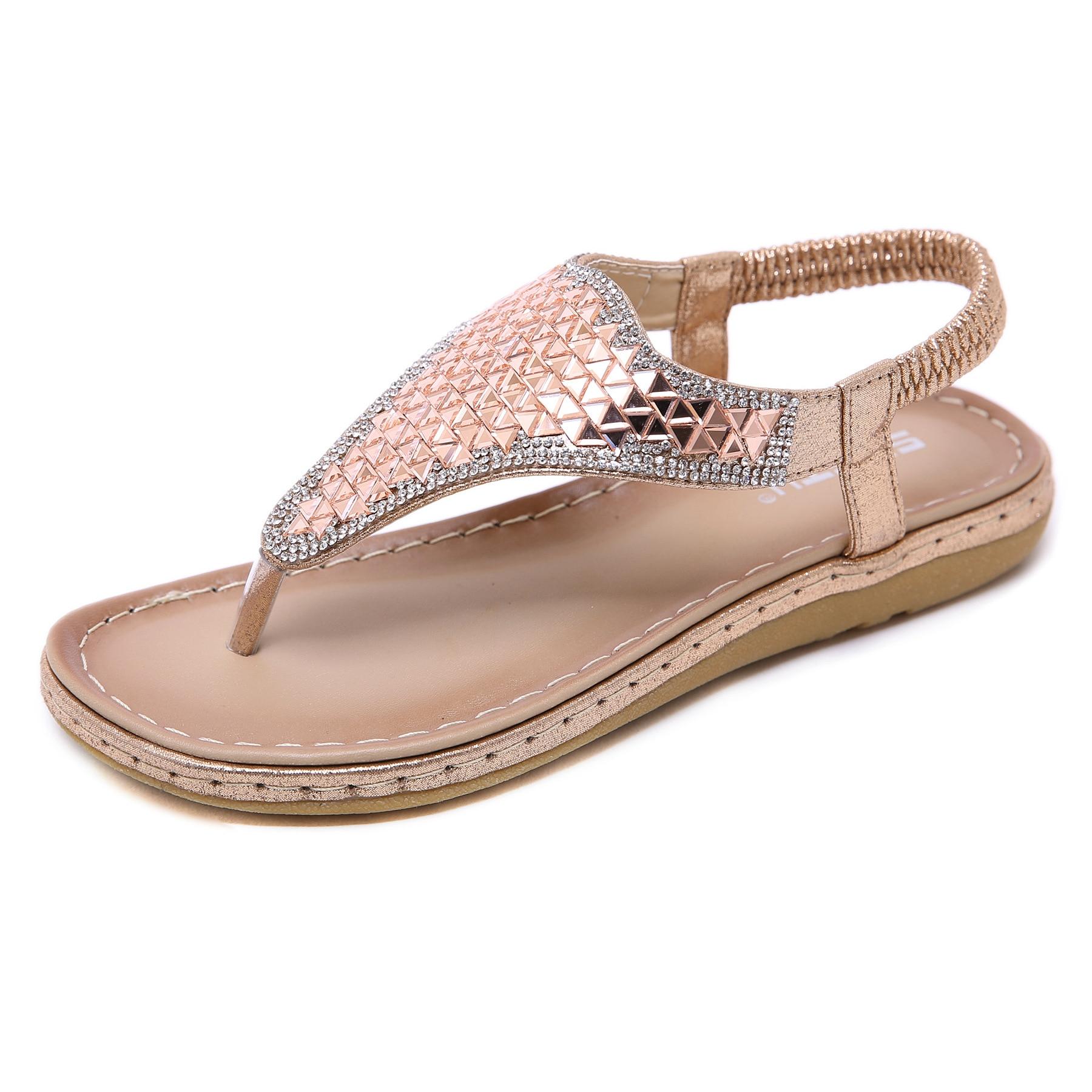 Women Sandals Summer 2019 New Female Shoes Woman Flat Comfortable Ladies Slip-on Sandalias