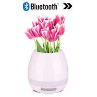 2017 LED Wireless Bluetooth Speaker Smart Music Flowerpot Night Light Mini Portable Speakers Flower Pot Colorful